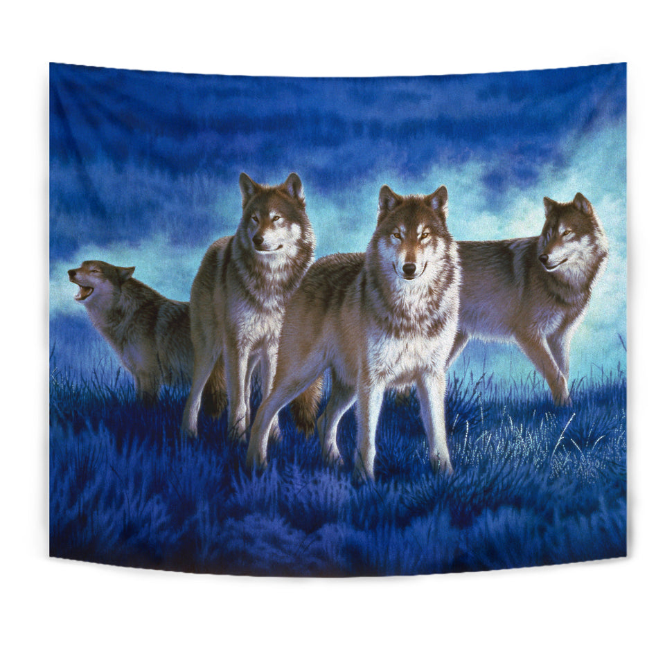 Tapestry Wolf Wall Art Wolf Pack algarve online shop
