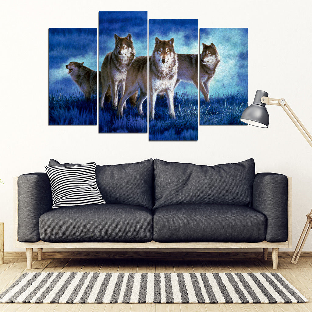 Wolf Art Framed Canvas