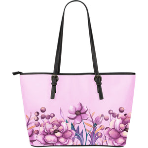 leather tote bag pink