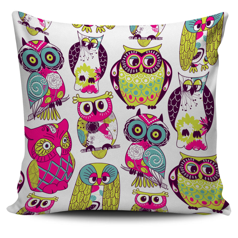 Pillow Cover Owl colors