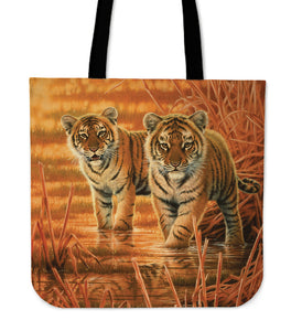canvas tote bag tigers