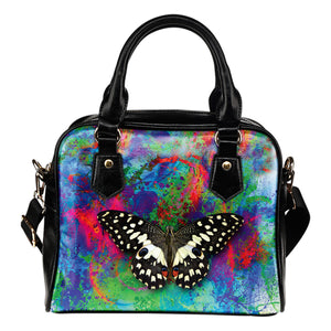 Color & Butterfly Shoulder Handbag