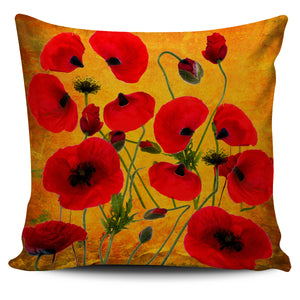 Pillow Cover Poppies Yellow