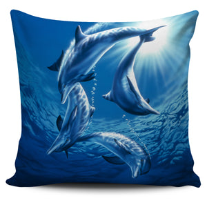 Pillow Cover - Dolphin Swing
