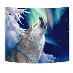 Tapestry Wolf Wall Art Holy Night algarve online shop