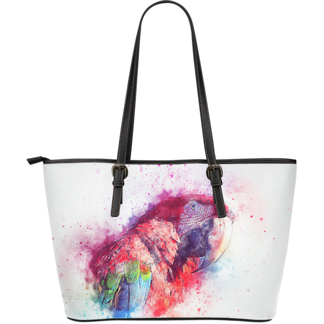 Leather Tote Bag - Large Parrots - Algarve Online Shop