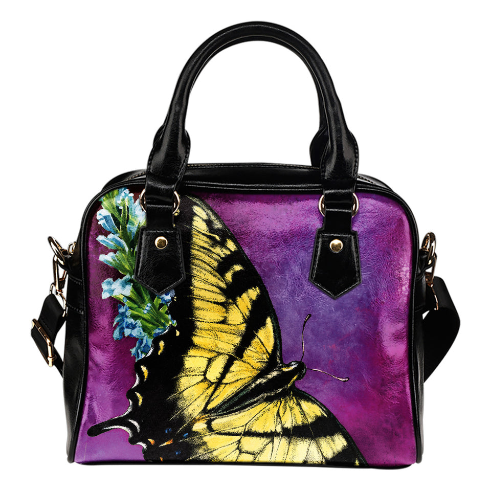 shoulder handbag butterfly purple- algarve online shop