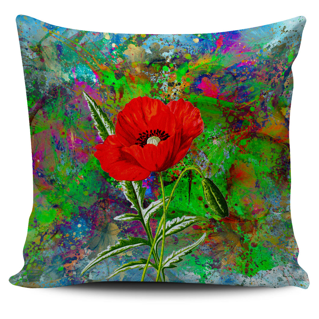 Pillow Cover Poppies Color