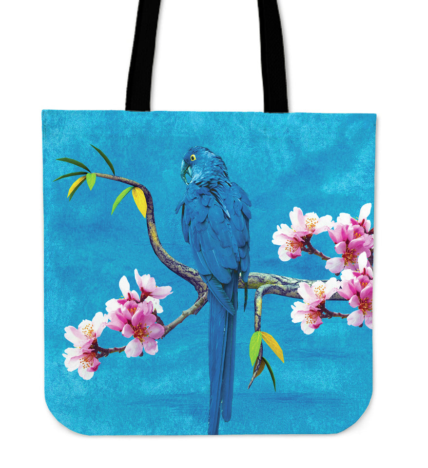 blue parrot linen tote bag algarve online shop