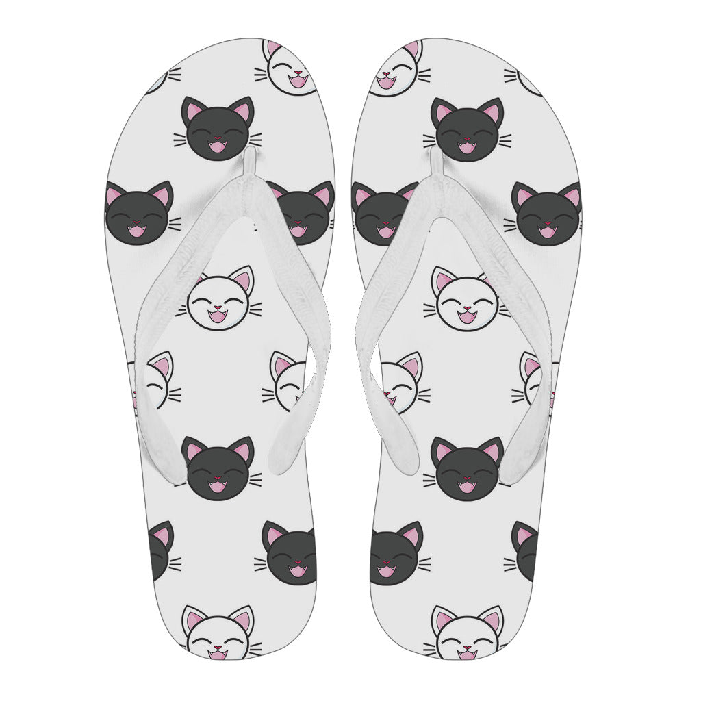 Happy Cat Men's Flip Flops