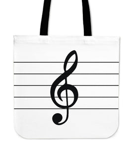 Tote Bag Music Note color