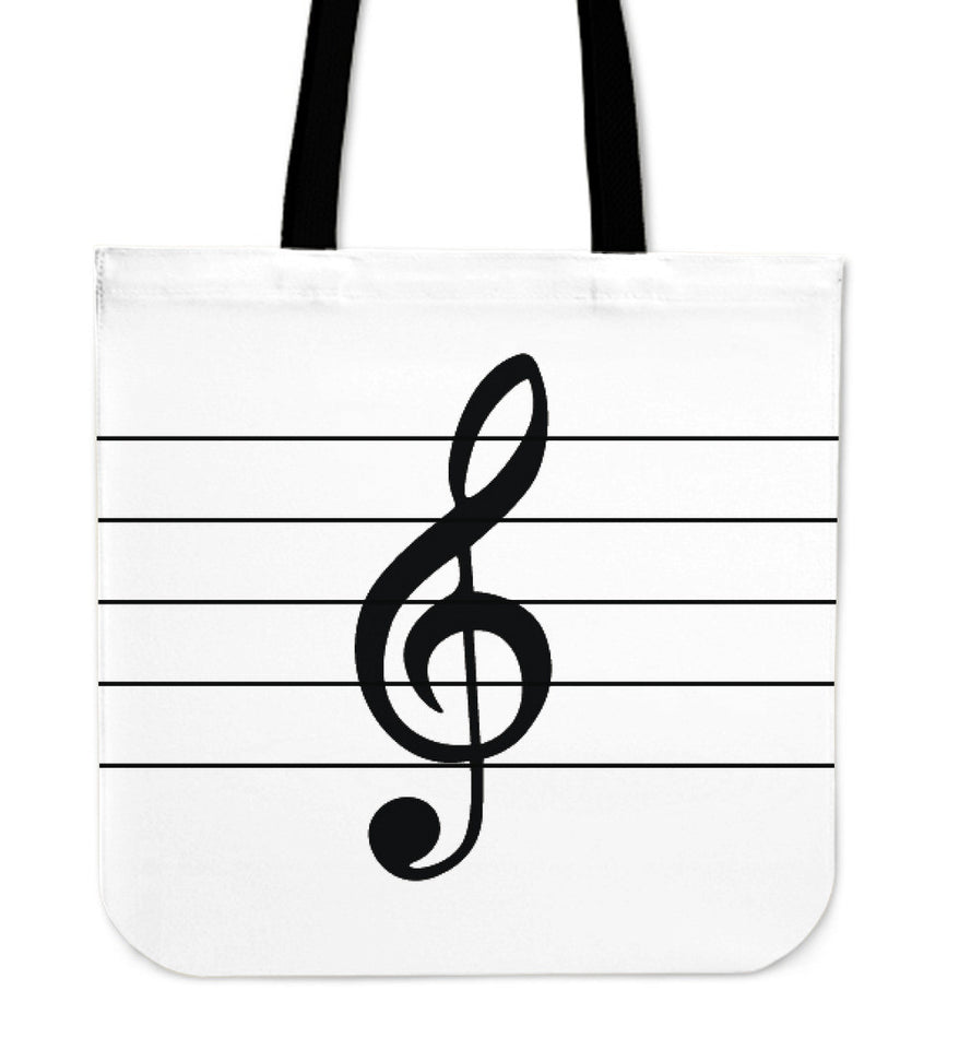 Tote Bag Music Note white