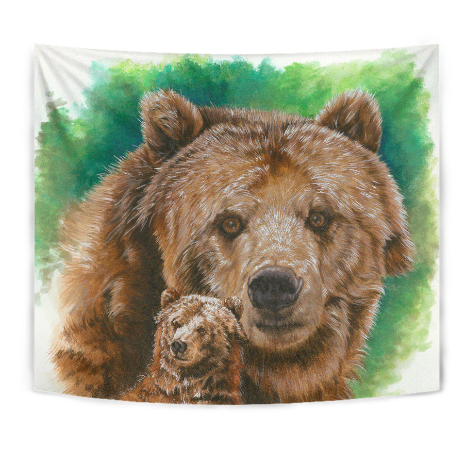 Wall Tapestry- Brown bear Dorm Room Tapestry