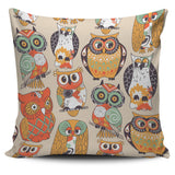 Pillow Cover Owl orange