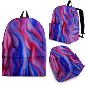 Backpack Abstract Art Purple