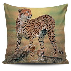 Pillow Cover - Cheetahs - Peaceful Day