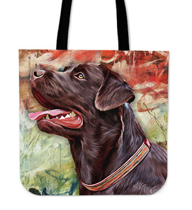 Chocolate Labrador Retriever Tote Bag