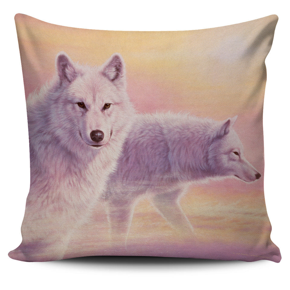pillow cover howling wolf  beige -algarve online shop