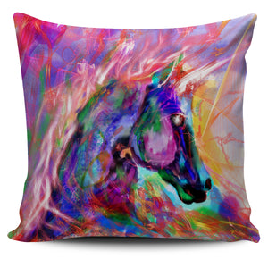 Pillow Cover Colorful Horse