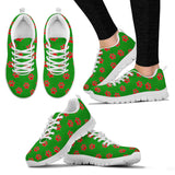 Women's Paw prints green sneakers