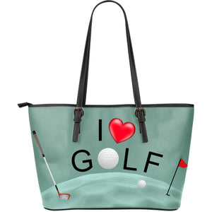 Large Leather Tote Bag - Golf