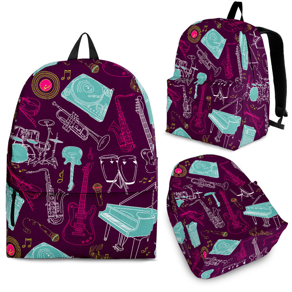 Backpack Music Instruments purple