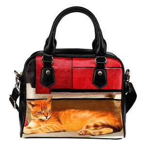 Shoulder Handbag - Cats
