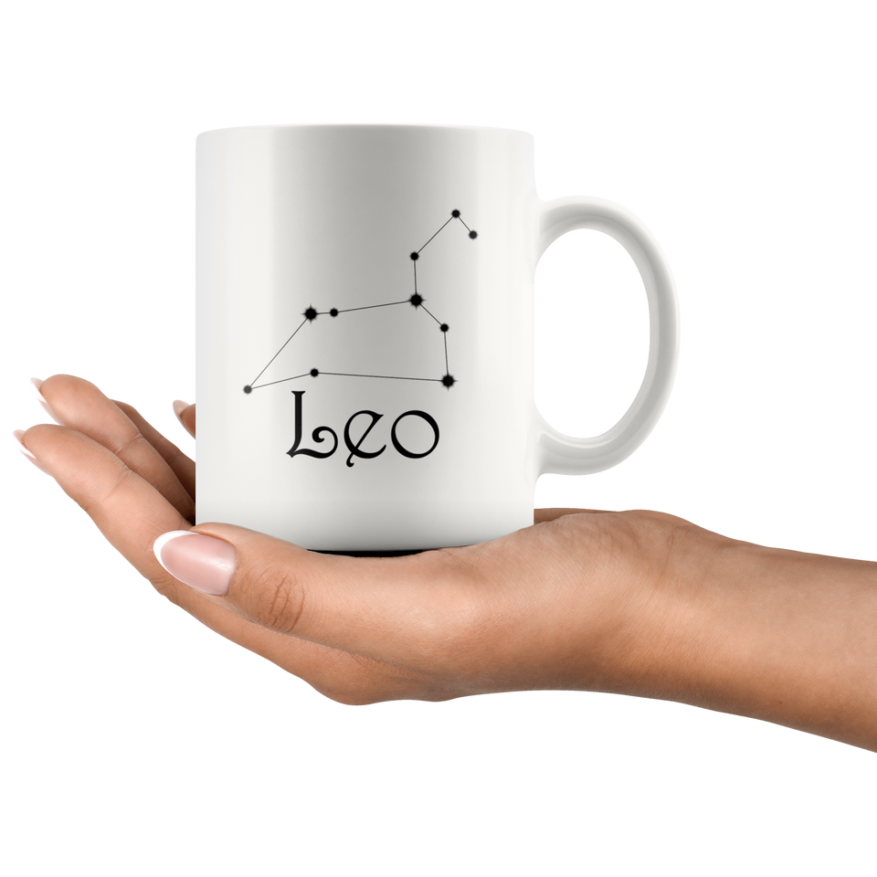 Zodiac Leo Constellation Ceramic Coffee Mug
