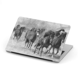 Mac-book case 12 inch with wild horses print