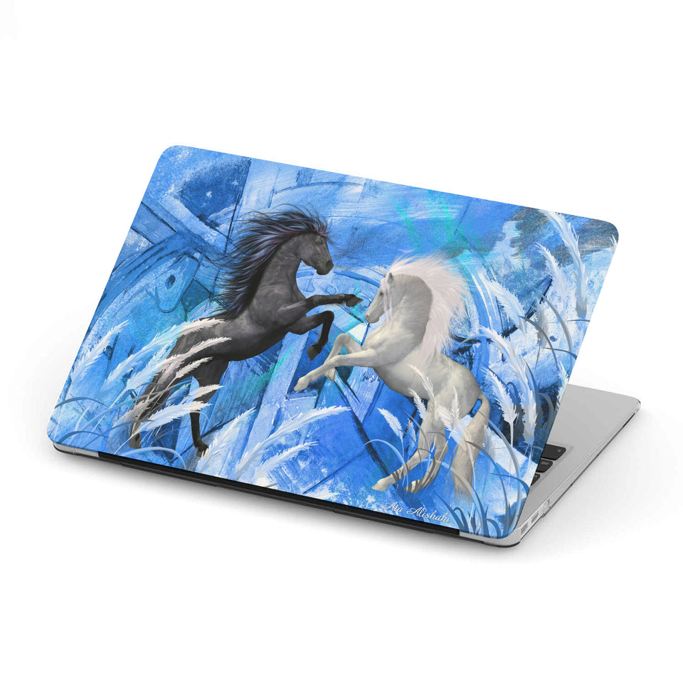 Mac-book case 11 inch with dancing horses