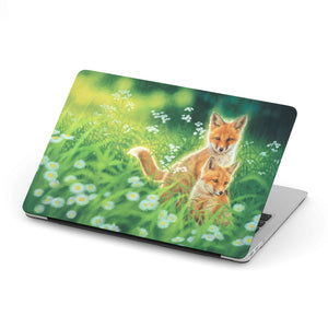 MacBook Case with Fox Art