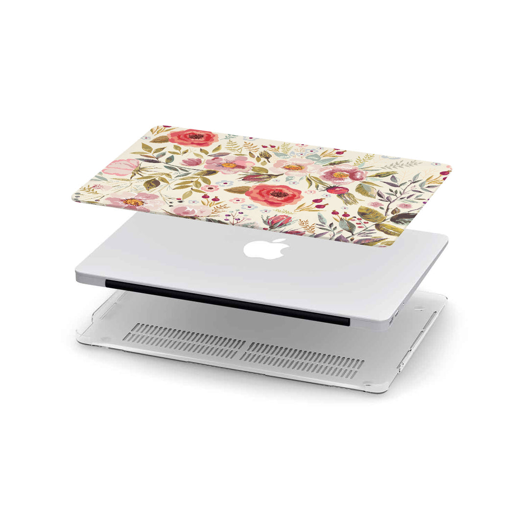 Macbook Case Flowers Vintage Light