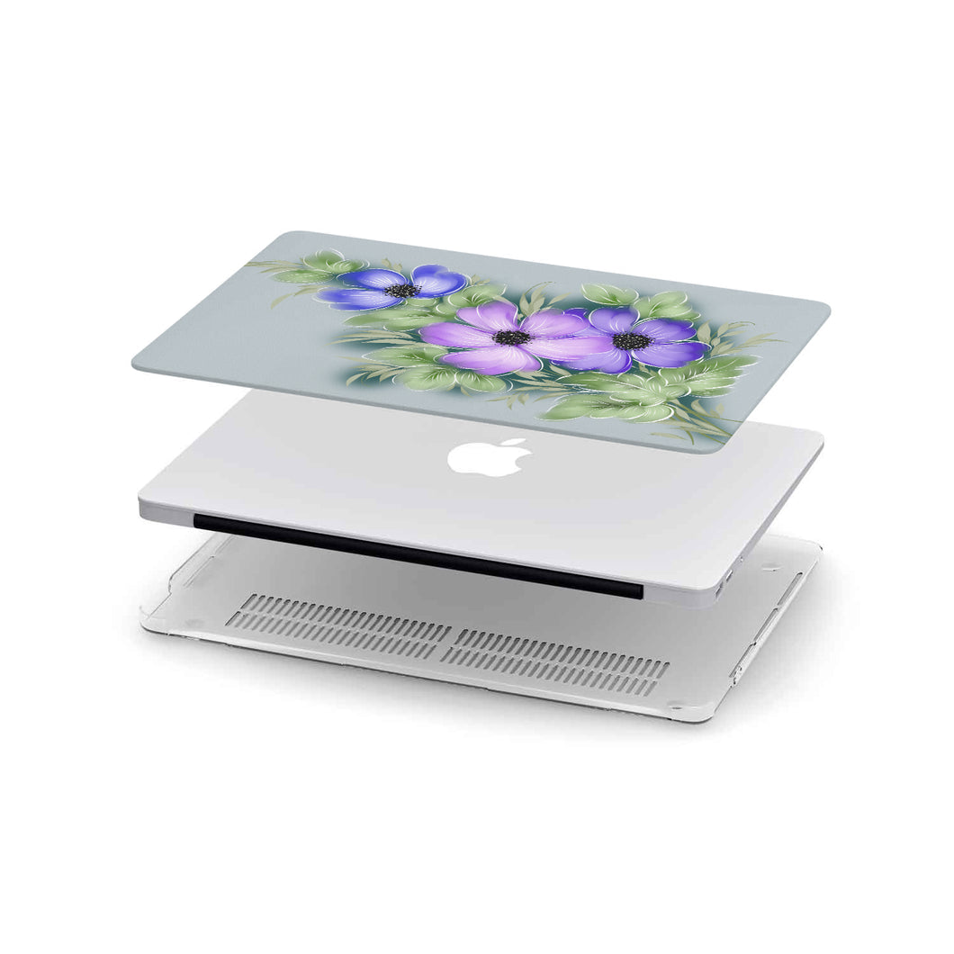 Macbook Case Purple flower