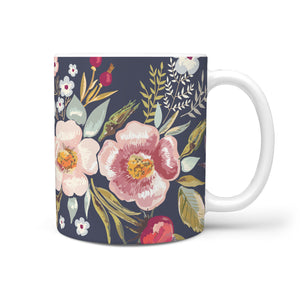 Coffee Mug Vintage Flowers