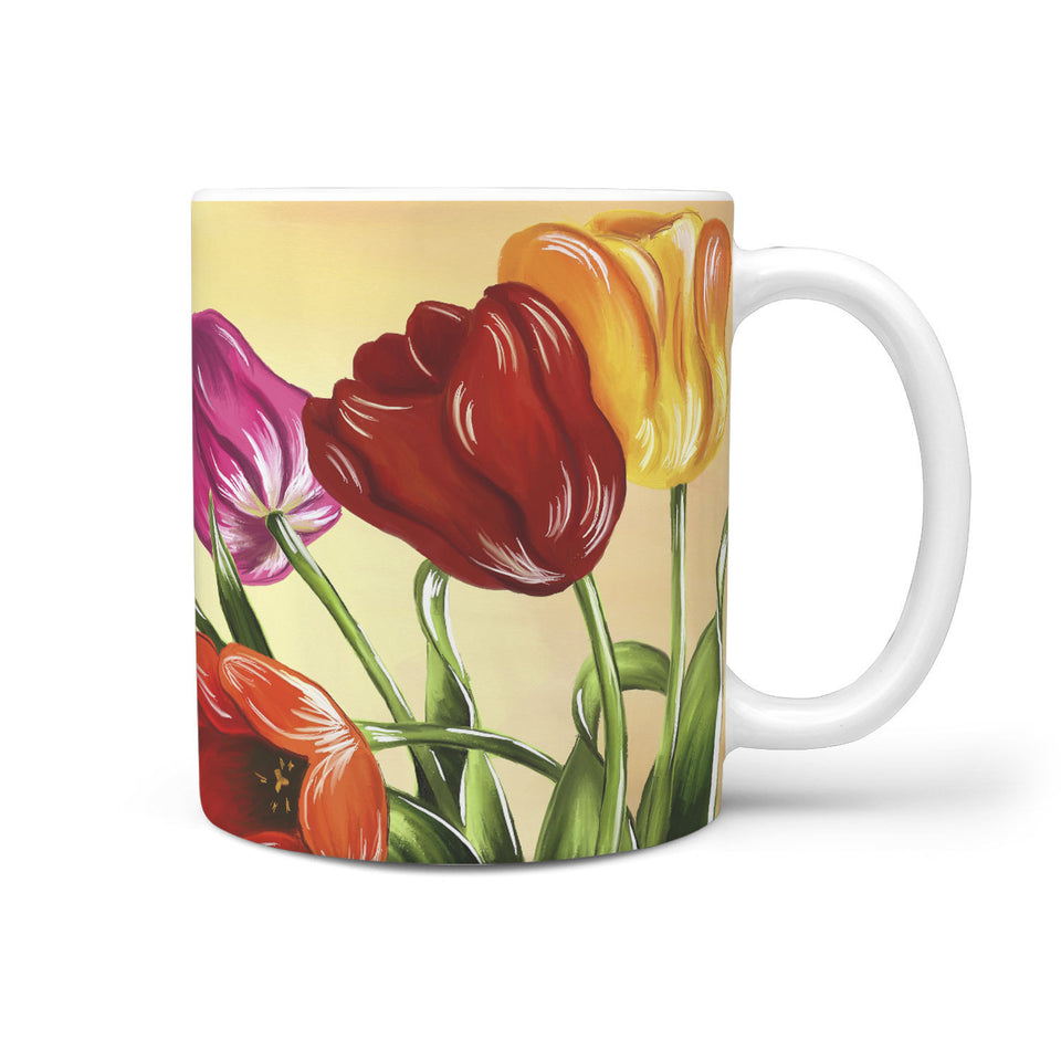 Floral Coffee Mug Tulips