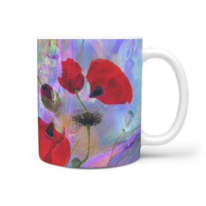 Floral Coffee Mug Poppies