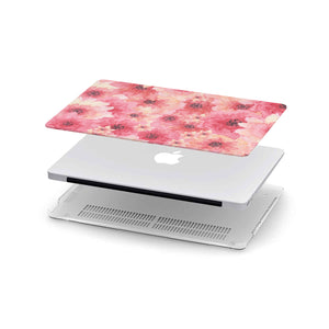 Pink Flowers MacBook Case