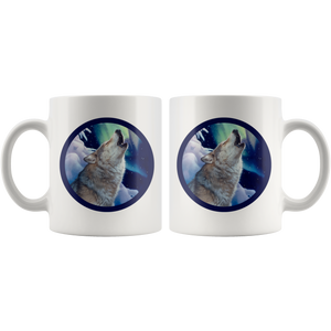 Coffee Mug Wolf Holy night