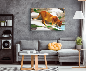Wall Art Lion- Canvas