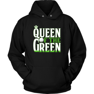 hoodie golf black queen of the green