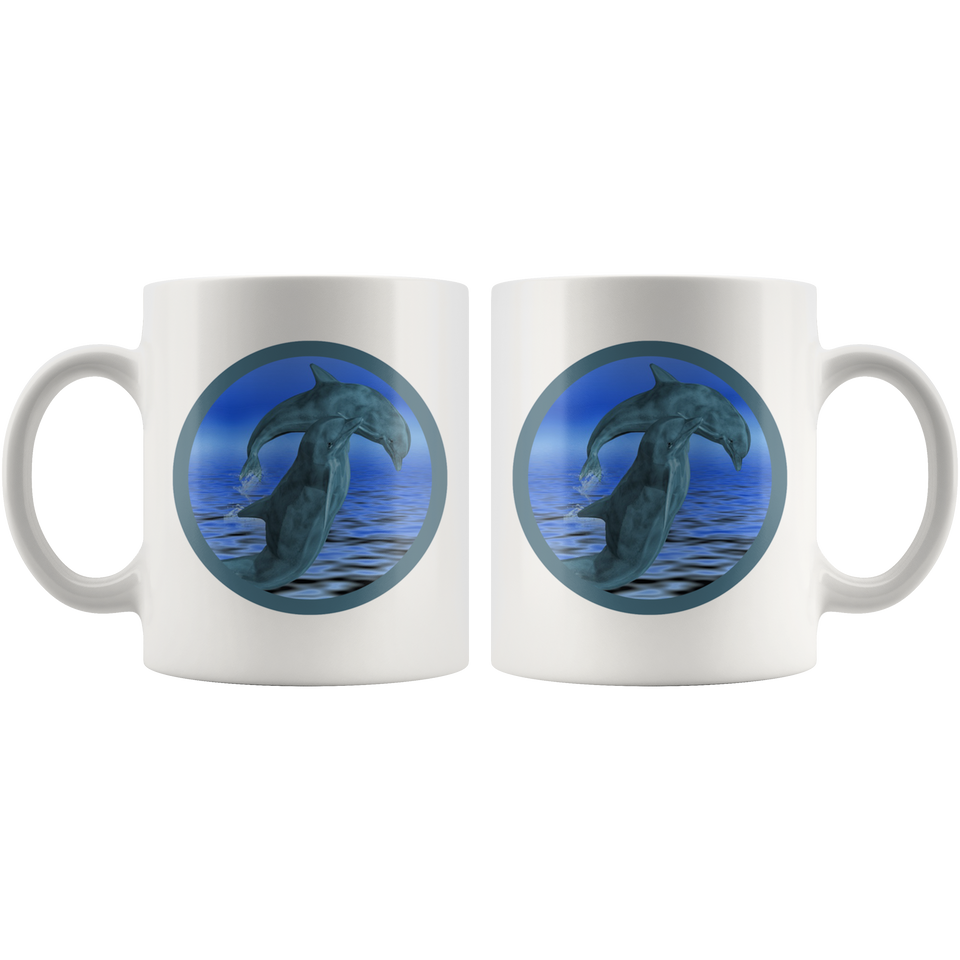 dolphin mug sealife back and front