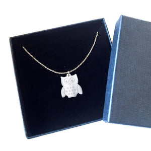 Owl - The Cutest Sterling Silver Necklace