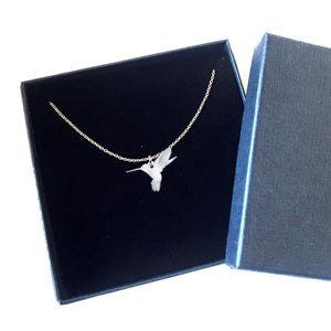 silver humming bird necklace algarve online shop