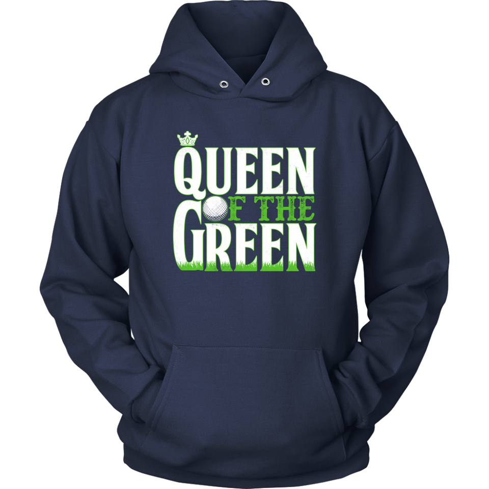 hoodie golf navy blue queen of the green