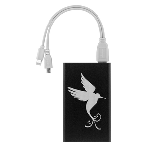 Power Bank with Hummingbird Art