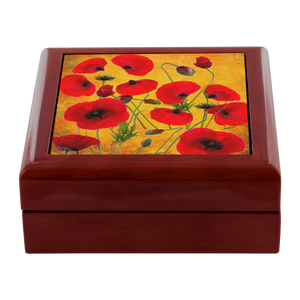 Poppies - Yellow Jewelry Box