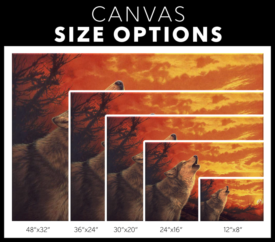 Canvas Wall Art Wolf  Sizes- Algarve online shop