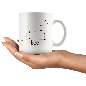 Zodiac Leo Constellation Mug