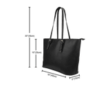leather tote bag size