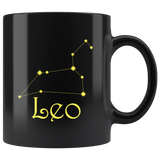 Zodiac Leo Constellation Ceramic Black Coffee Mug